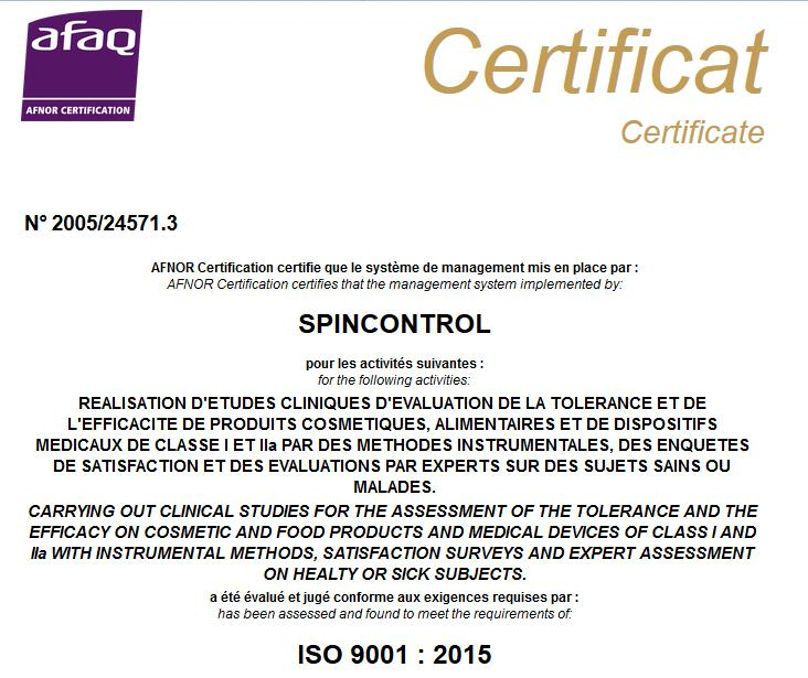 Proud to be ISO 9001 version 2015 certified | Spincontrol Group ...